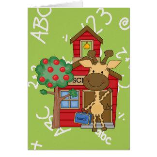 Schoolhouse Giraffe Card