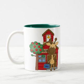 Schoolhouse Giraffe Two-Tone Coffee Mug