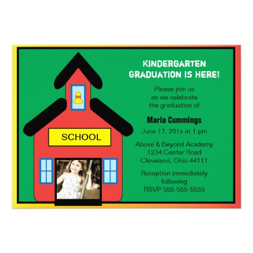 Schoolhouse Graduation Invitation