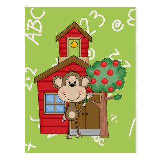 Schoolhouse Monkey Postcard