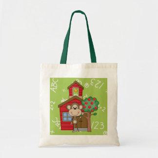 Schoolhouse Monkey Tote Bag