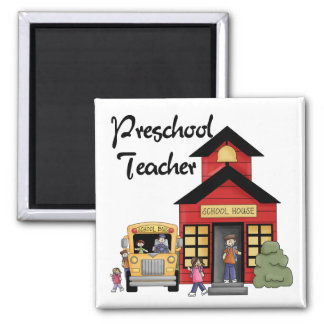 Schoolhouse Preschool Teacher Tshirts and Gifts Refrigerator Magnet