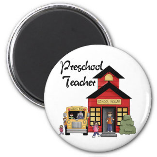 Schoolhouse Preschool Teacher Tshirts and Gifts Fridge Magnets