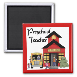 Schoolhouse Preschool Teacher Tshirts and Gifts Magnet