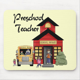 Schoolhouse Preschool Teacher Tshirts and Gifts Mouse Pads