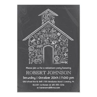"Schoolhouse Teacher Retirement Invitation 5"" X 7"" Invitation Card"