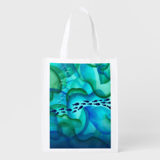 Schooling Fish Grocery Bag Market Tote