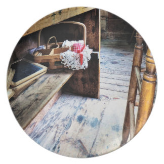 Schoolmarm's Desk Melamine Plate