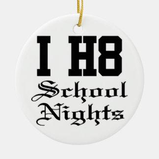 schoolnights adorno redondo de cerámica