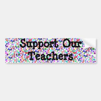 Schools bumper sticker