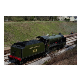 """Schools Class No. 928 """"""""Stowe"""""""" at Horsted Keynes Poster"""