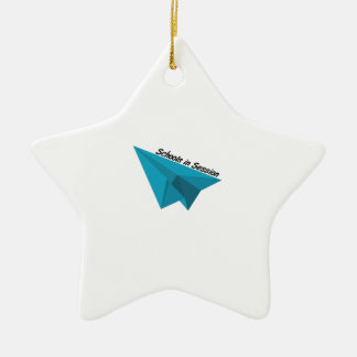 Schools In Session Double-Sided Star Ceramic Christmas Ornament