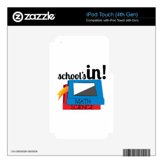 Schools In Skins For iPod Touch 4G