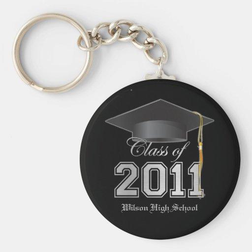 School's Name Class of 2011 Graduation Key-Chain Keychain
