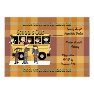 Schools Out 3.5x5 Paper Invitation Card