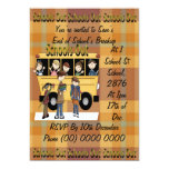 Schools Out 5x7 Paper Invitation Card