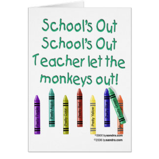 Schools Out Cards