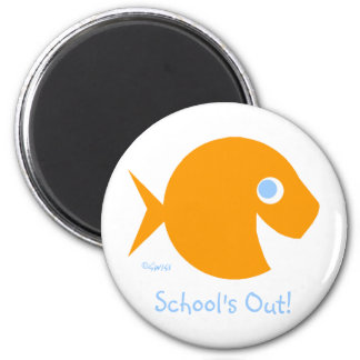 School's Out Last Day of Year Magnet for Kids