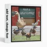 School's Out, Little Ducklings! 3 Ring Binder