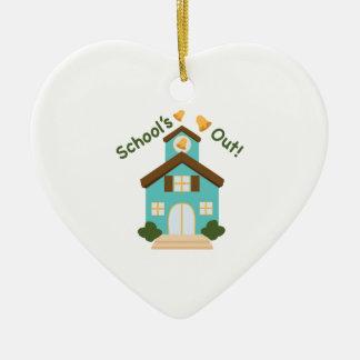 Schools Out Ceramic Heart Ornament