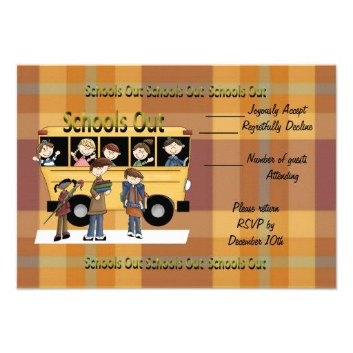 Schools Out Personalized Invites