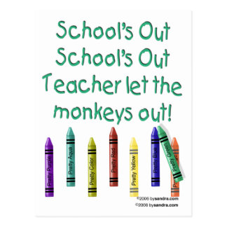 Schools Out Postcard
