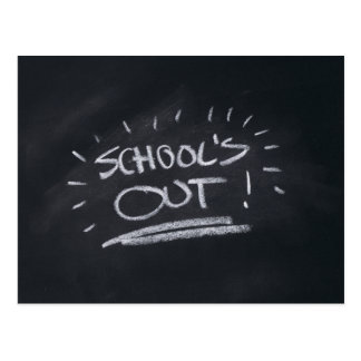 School's Out Postcard Template