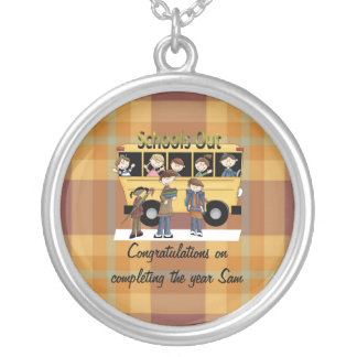 Schools Out Round Pendant Necklace