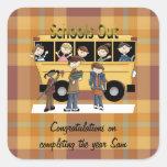 Schools Out Square Sticker