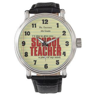 Schoolteacher Piece of Mind | Funny Custom Watch