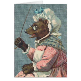 """Schoolteacher"" Vintage Bear Card"
