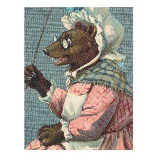 """Schoolteacher"" Vintage Bear Postcard"