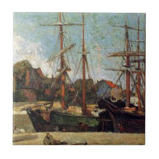 Schooner and three masters by Paul Gauguin Ceramic Tile