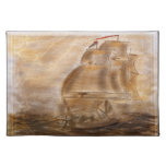 Schooner And Vintage Map Cloth Placemat