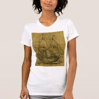 Schooner And Vintage Map Shirt