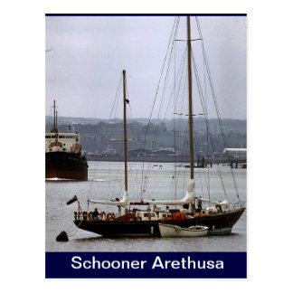 Schooner Arethusa Postcard