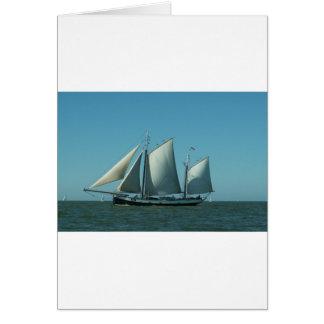 Schooner at Sea Greeting Card