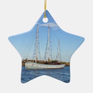 Schooner en las islas de Scilly Adorno Navideño De Cerámica En Forma De Estrella