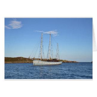 Schooner en las islas de Scilly Tarjeta De Felicitación