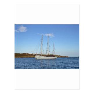 Schooner en las islas de Scilly Tarjeta Postal