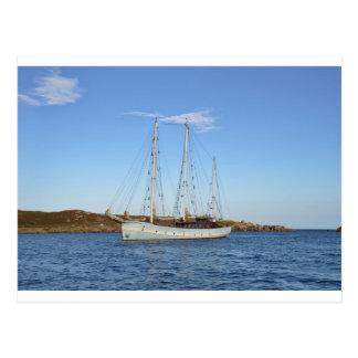 Schooner en las islas de Scilly Tarjetas Postales