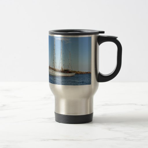 Schooner en las islas de Scilly Tazas De Café