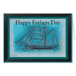 Schooner Happy Fathers Day Card