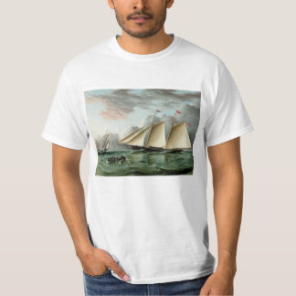 Schooner Mohawk off Sandy Hook Lighthouse Shirt