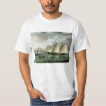 Schooner Mohawk off Sandy Hook Lighthouse T-Shirt