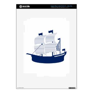 Schooner Navy Decal For iPad 3