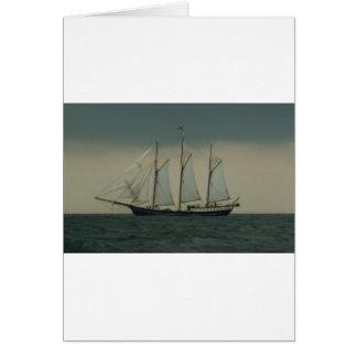 Schooner off the Dutch coast Greeting Card