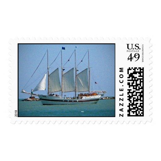 Schooner Postage Stamps