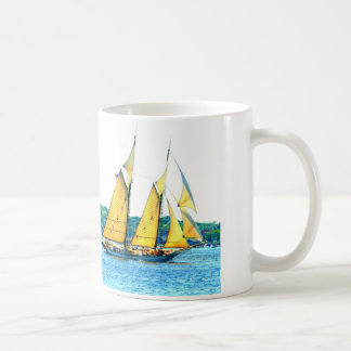 Schooner racing coffee mug