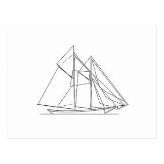 Schooner Sailboat Logo Postcard